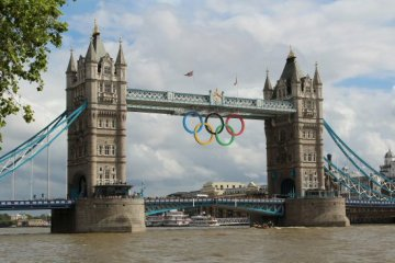 Tower Bridge. London 2012 Olympic Games