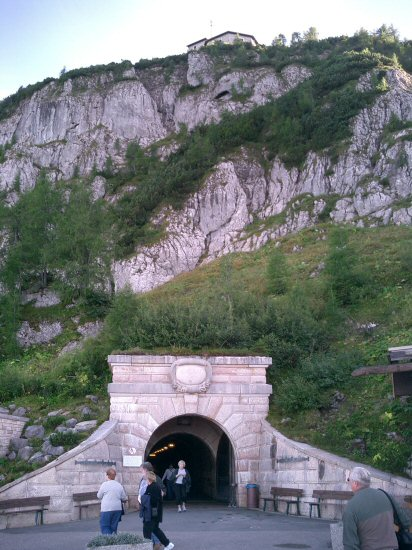 Tunnel entrance and Eagle's Nest above