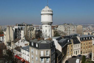 Water Tower, from Sacre-Coeur, Montmartre, Paris