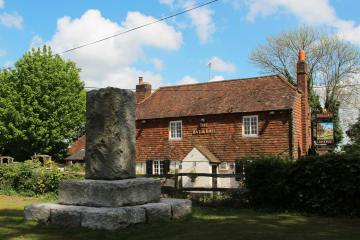 The Bat & Ball Inn and Cricket Memorial Stone, Hambledon