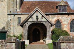 Entrance, St. John the Baptist Church, Little Missenden