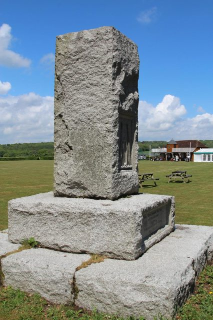Hambledon Cricket Club Memorial Stone, Broadhalfpenny Down, Hambledon