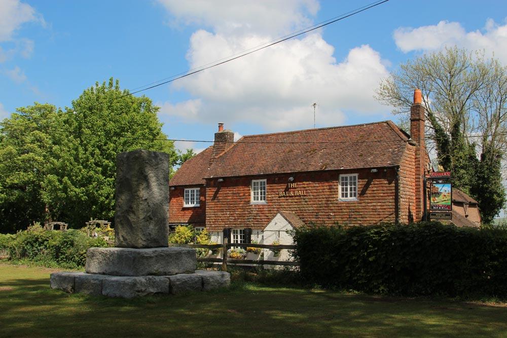 The Bat & Ball Inn and Cricket Memorial Stone, Hambledon