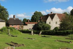 The Old Court House, from All Saints' Churchyard, East Meon