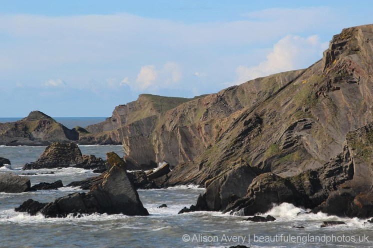 Cliffs, Hartland Quay