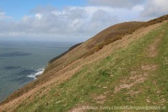 Coastal path to Foreland Point, Countisbury