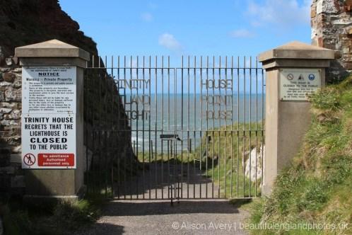 Gates to Trinity House Hartland Point Lighthouse, Hartland Point