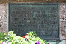 Battle of Britain plaque, on wall of All Saints Church, Brenchley