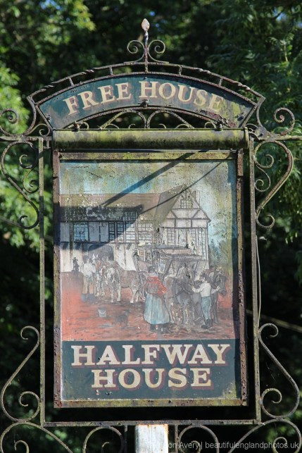 Halfway House pub sign, Brenchley