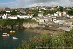 Harbour and beach, from footpath to Lobber Point, Port Isaac