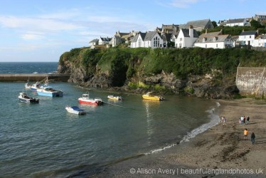 Harbour Beach, from Roscarrock Hill, Port Isaac