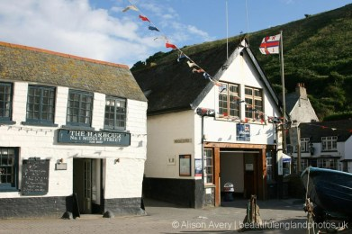 The Harbour Restaurant, now Outlaw's Fish Kitchen and RNLI Lifeboat Station, Port Isaac