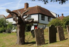 The Old Vicarage, from All Saints Churchyard, Brenchley