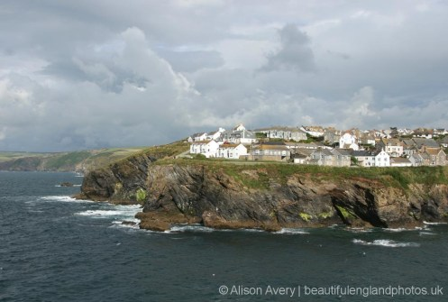 West cliff, from Lobber Point, Port Isaac