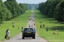 HM The Queen and Prince Philip, The Duke of Edinburgh, driving down The Long Walk, Windsor. 22nd June 2014