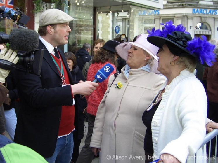 Media interview, wedding of Prince Charles and Camilla Parker Bowles, Windsor. 9th April 2005