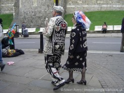 Pearly King and Queen, wedding of Prince Charles and Camilla Parker Bowles, Windsor. 9th April 2005
