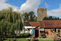 The Stanhope Arms pub garden, Church Road, Brasted