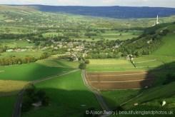 Castleton and Hope Valley, from Winnats Head Farm, Castleton, High Peak