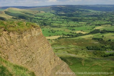 Edge of Mam Tor and Hope Valley, Peak District