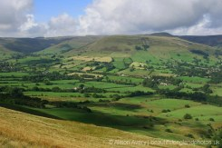 High Peak and Hope Valley, from The Great Ridge, Peak District