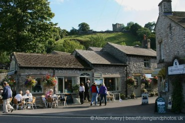 The Three Roofs Cafe and Peveril Castle, Castleton