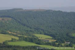 Captain Cook Monument on Easby Moor, from summit, Roseberry Topping, North York Moors