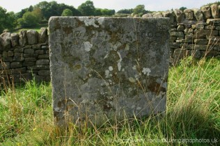 Grave of Elizabeth Hancocke, plague victim, Bur Aug 3rd 1666, Riley Graves, Eyam