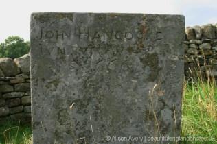 Grave of John Hancocke Jun, plague victim, Bur Aug 3rd 1666, Riley Graves, Eyam