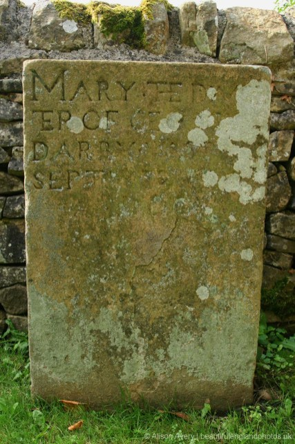 Grave of Mary, daughter of George Darby, died 4th September 1666, The Lydgate Graves, Eyam