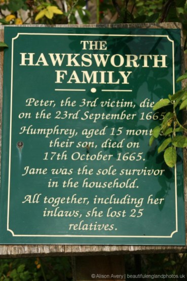 Plague victims plaque, the Hawksworth family, Eyam