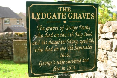 Plague victims plaque, The Lydgate Graves, Eyam