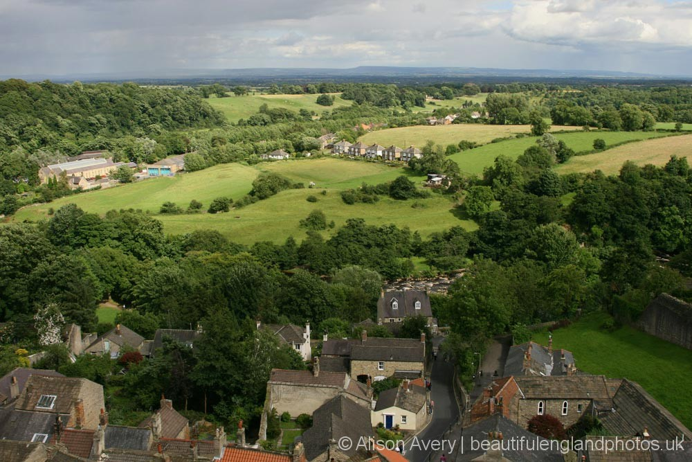 Looking towards North York Moors, from Richmond Castle, Richmond