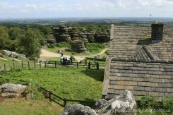 Looking towards the Vale of York, from Brimham House, Brimham Rocks