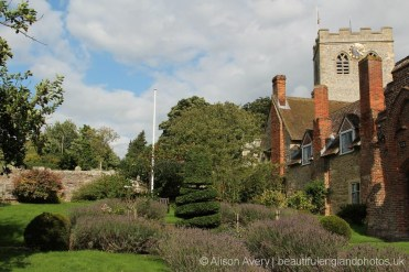 Garden, Almshouses and St. Mary's Church, Ewelme