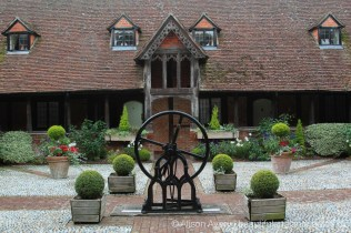 The Well and Iron Wheel, the Cloisters, Almshouses, Ewelme