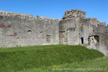 Castle wall, Gatehouse, Portchester Castle, Portchester