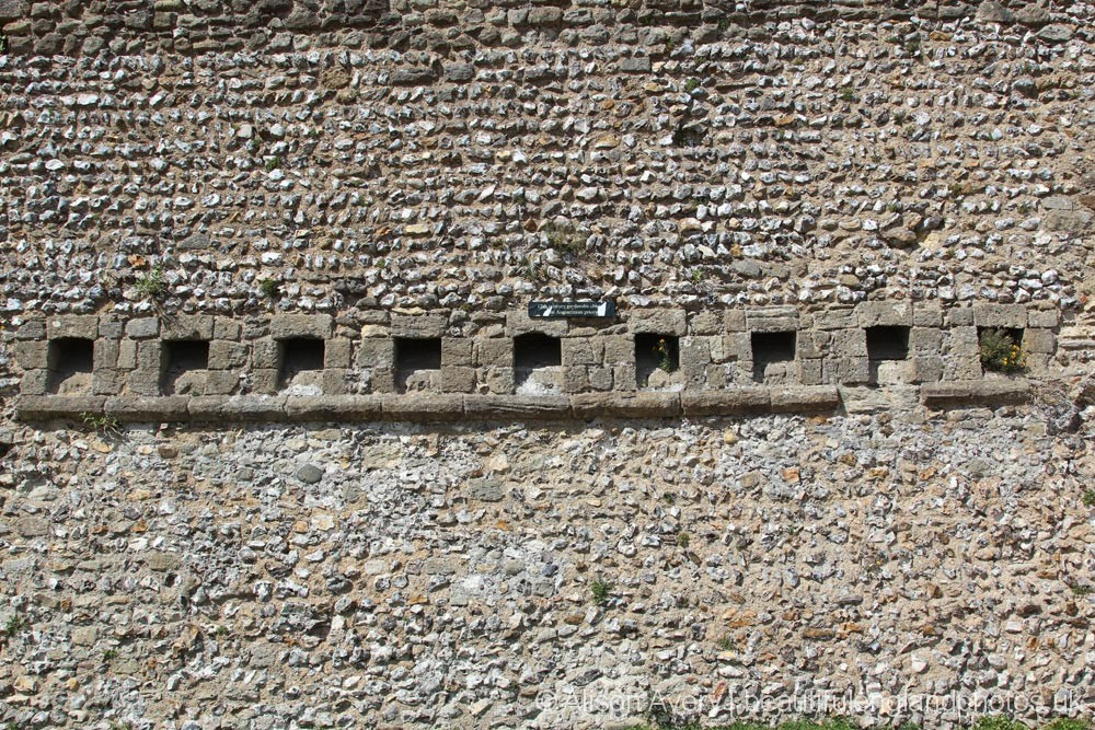 Garderobe Chutes, South Wall, Portchester Castle, Portchester