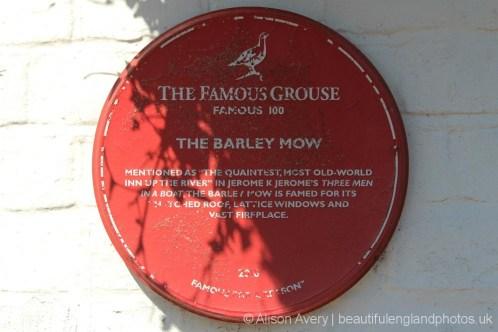 Jerome K. Jerome, Three Men in a Boat plaque, Barley Mow pub, Clifton Hampden