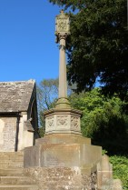 Memorial Cross to the First Lord Aldenham, on steps of St. Michael and All Angels Church, Clifton Hampden