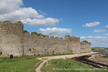 South Wall, Roman Fort, Portchester Castle, Portchester