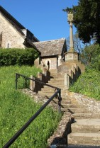 Steps and Memorial Cross, St. Michael and All Angels Church, Clifton Hampden