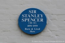Plaque, Fernlea, Cookham (birthplace and home of Sir Stanley Spencer 1891-1959)