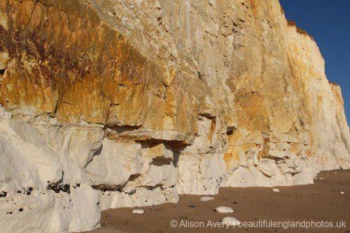 Chalk and flint cliffs, Telscombe Cliffs
