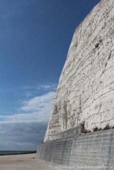 Chalk and flint cliffs, Undercliff Walk, Saltdean