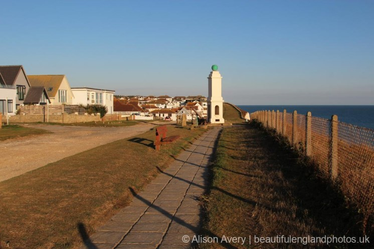 Clifftop footpath to The Greenwich Meridian Marker, Peacehaven