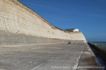 End of Undercliff Walk, from Brighton Marina to Saltdean