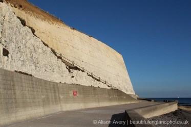 Undercliff Walk, below ramp, Bastion Steps, Peacehaven