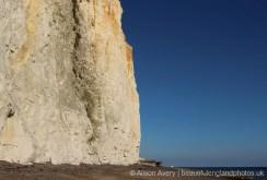 Western end of Undercliff Walk, from beach, Telscombe Cliffs