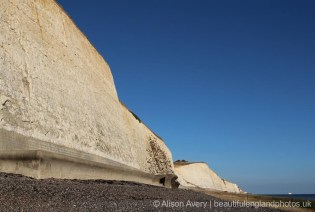 Western end of Undercliff Walk, from beach, Telscombe Cliffs